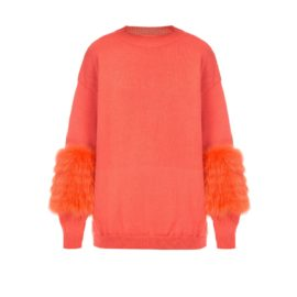 Peachy artic fox sweater