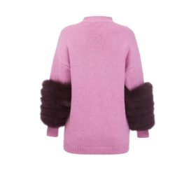 Pink artic fox sweater