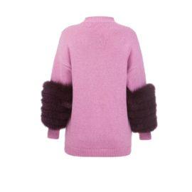 Pink artic fox sweater