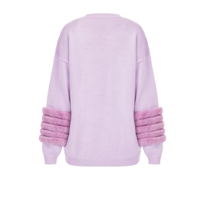Rose artic fox sweater