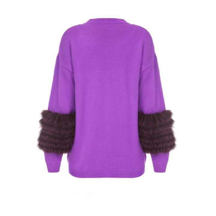 Ultra violet artic fox sweater