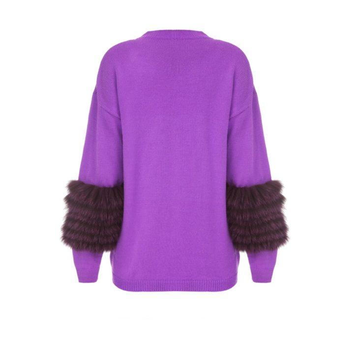 Ultra violet artic fox sweater