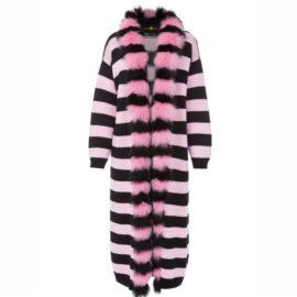 Stripped pink cardigan