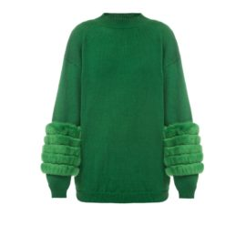 Green artic fox sweater