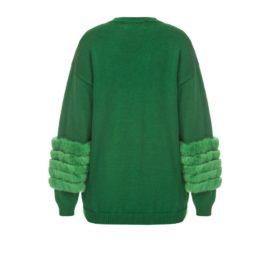Green artic fox sweater