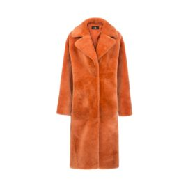 Orange mouton fur coat