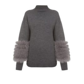 Grey artic fox sweater