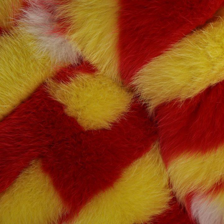 Artic fox fur graff scarf