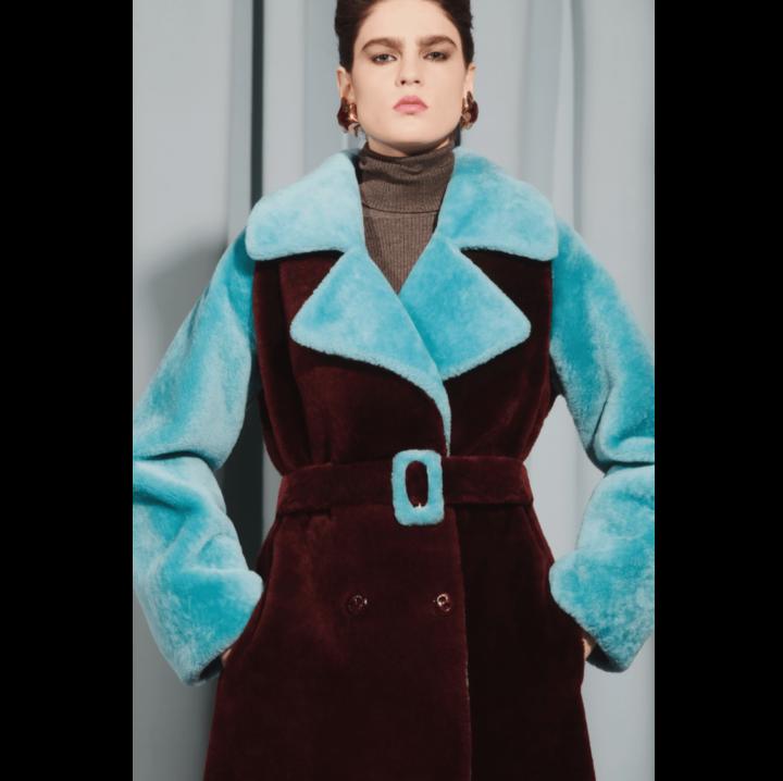 Mouton fur coat