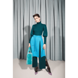 Turquoise Skirt & pants suit