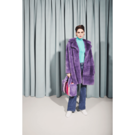 Violet rex fur coat
