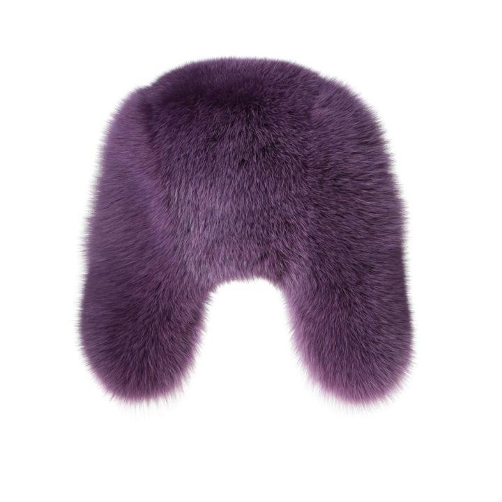 Violet fur hat