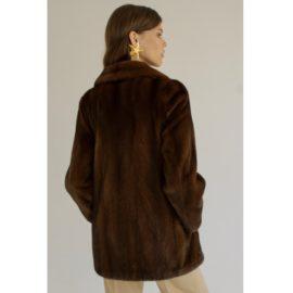 Сlassic short mink fur coat